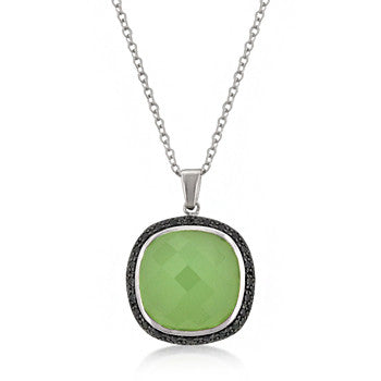 Olive Jade Cushion Pendant