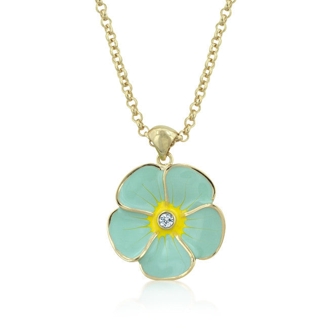 Light Blue Floral Meadow Pendant
