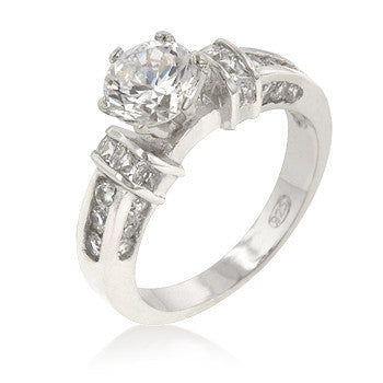 Accented CZ Anniversary Ring