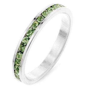 Stylish Stackables Peridot Silver Ring