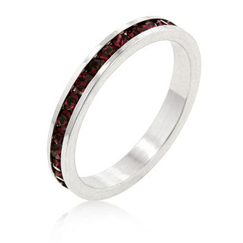 Stylish Stackables with Ruby CZ Ring