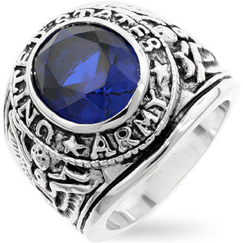 Sapphire Army Ring