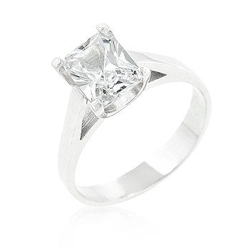 Radiant Clear CZ Ring
