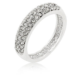 Pave Crystal Silver Band