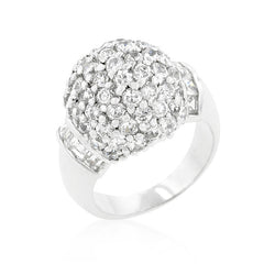 Clear Pave Cushion CZ Ring