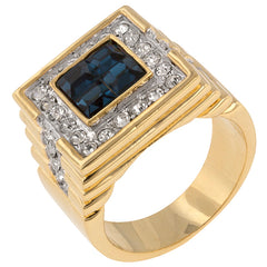 Deep Sea - 14K Gold Rich Blue CZ RIng