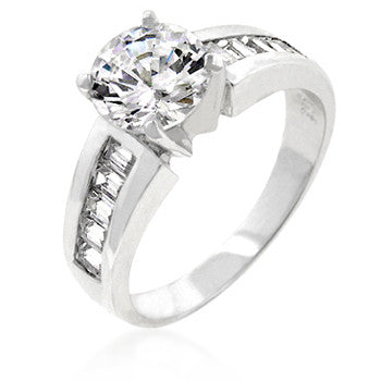 Antoinette Engagement Silver Ring