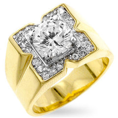 Diamond Lighthouse - 7.4 CT Cubic Zirconia 14K Gold Ring