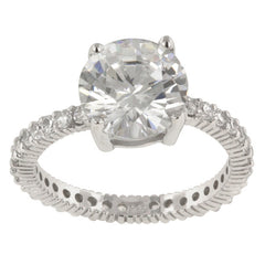 Queen Anne Clear Ring