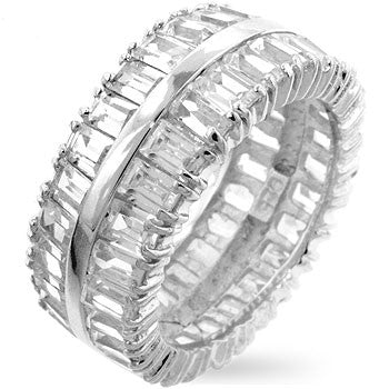 Double Baguette Eternity Ring