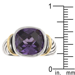 Amethyst Tutone Cable Ring