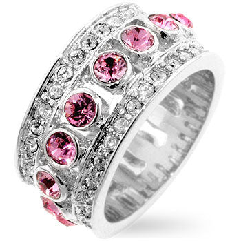Pink CZ Eternity Band