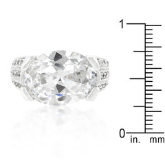 Oval Triplet CZ Ring
