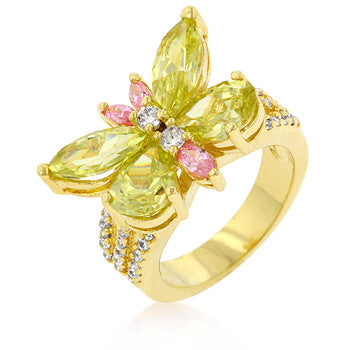 Golden Butterfly Cocktail Ring