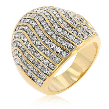 Pave Crystal Cocktail Ring