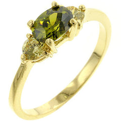 Oval Composer CZ Ring