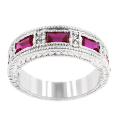 Garnet Bezel Eternity Band