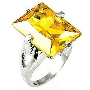 Yellow Neapolitan Solitaire Ring