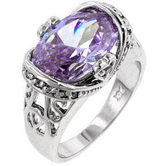 Lilac Saddle Cocktail Ring