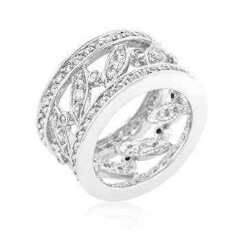Filigree Eternity CZ Band