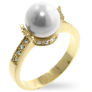 Pearl Opulence Engagement Ring