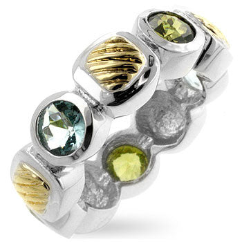 Ocean Mix Block Ring