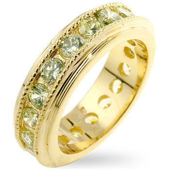 Peridot New England Eternity Ring