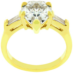 Heart Triplet Ring in Gold