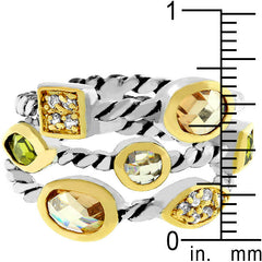 Champagne Mix Cable Ring