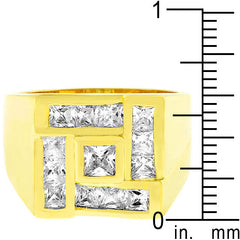 Men's Pave Maze Ring