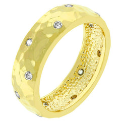 Hammered Gold Dimple Ring