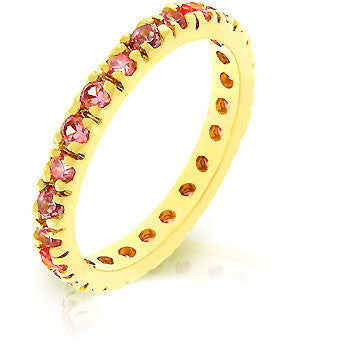 Pink Ice CZ Eternity Ring
