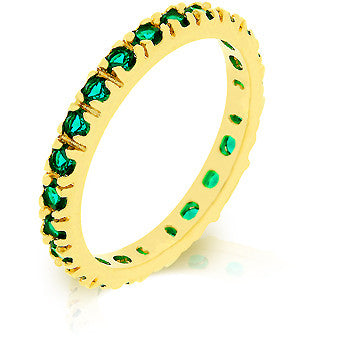 Emerald Gold Eternity Ring