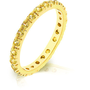 Yellow CZ Eternity Ring