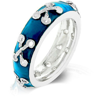 Laced Enamel Eternity Band