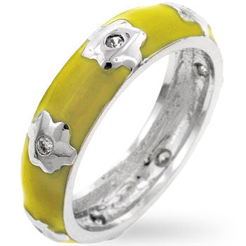 Yellow Flower Enamel Band