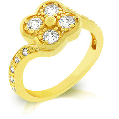 Clover Premium Gold Ring