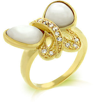 Sea Shell Butterfly Ring
