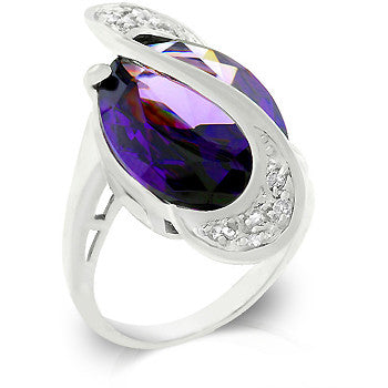 Pave Strip Amethyst Limited Edition Ring