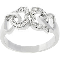 Linked CZ Hearts Ring