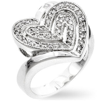 Creased Heart Ring