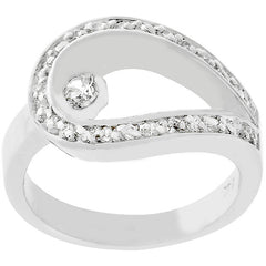 Looped CZ Ring