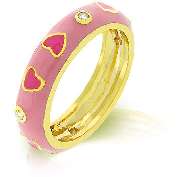 Berry Hearts Enamel Ring
