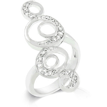 Crescent Moon Circle Ring