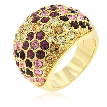 Pave Multicolor Dome Ring