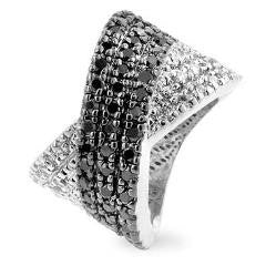 X-Factor - Cross Pattern CZ Cocktail Ring