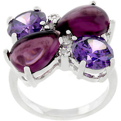 Amethyst Cluster Cocktail Ring