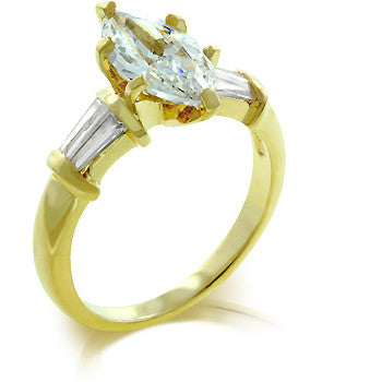 Golden Marquise Centerpiece Ring