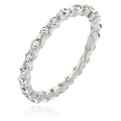 Silver Lace Eternity Band