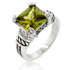 Olive Eyes Antique Ring